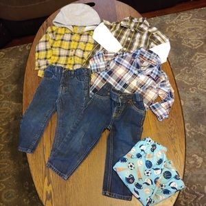 Carters/nautica boys bundle size 18 months